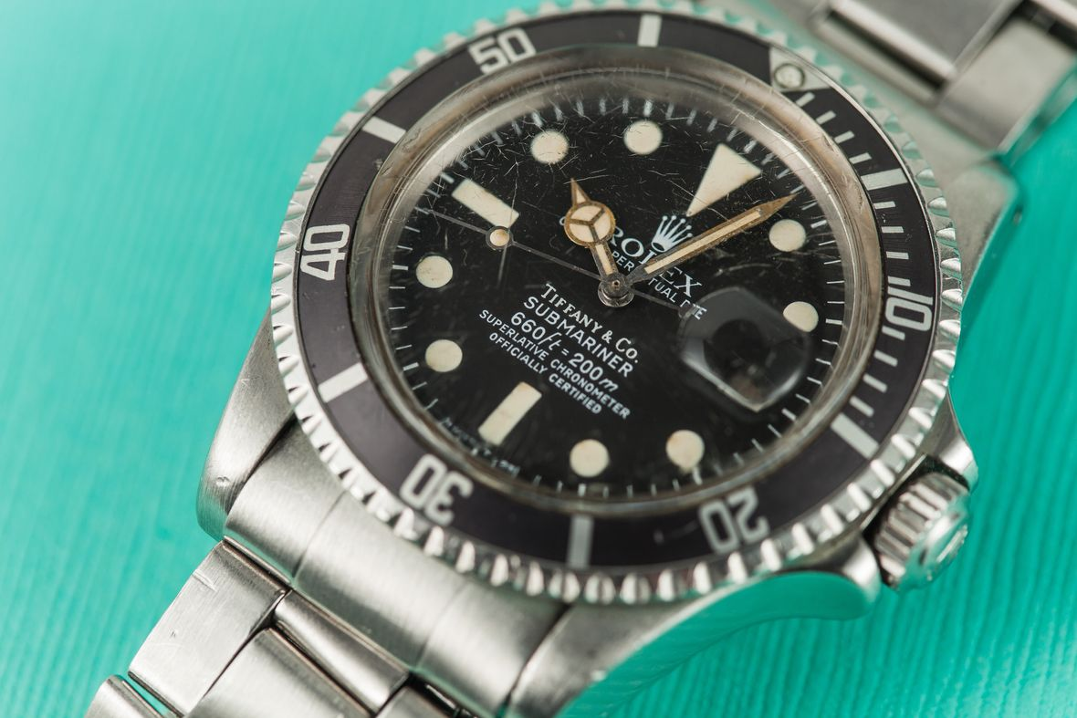 Vintage Rolex Submariner 1680 Stainless Steel Tiffany Dial
